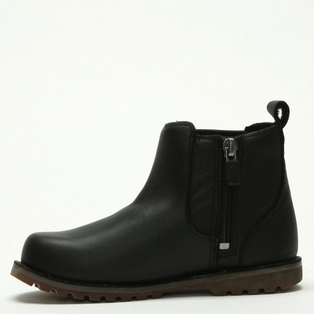 83ee1a96273 Kids Callum Black Leather Chelsea Boot