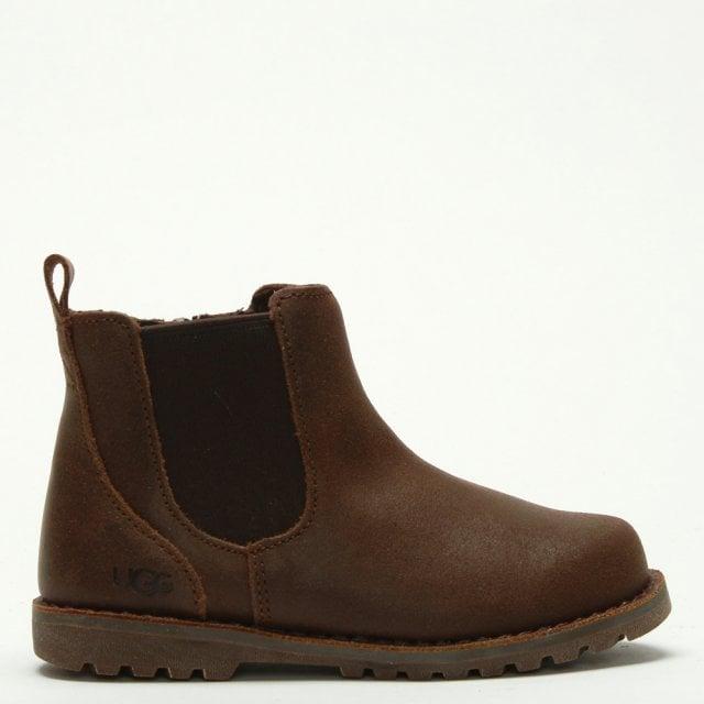 5684695cc20 Kid's Callum Chocolate Leather Chelsea Boots
