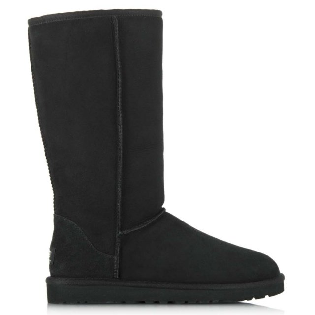 Kids Classic Black Tall Sheepskin Boot