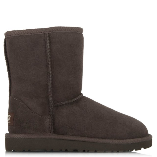 Kids Classic Chocolate Suede Twinface Boot