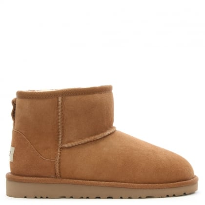 Kids Classic Mini Chestnut Suede Sheepskin Boot