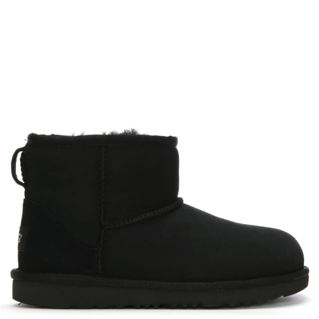 f488fb7a088 Kid's Classic Mini II Black Suede Sheepskin Boots