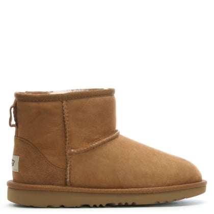 Kid's Classic Mini II Chestnut Suede Sheepskin Boots