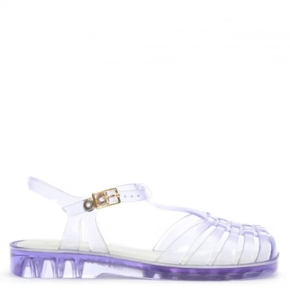 Kids Clear Aranha Quadrada Jelly Shoes