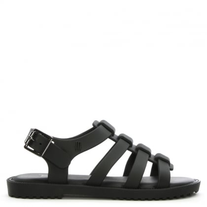 Kid's Flox Black Matte Jelly Sandals