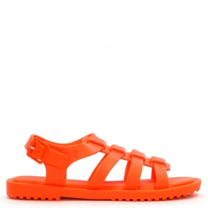 Kids Flox Neon Matt Orange Jelly Sandals