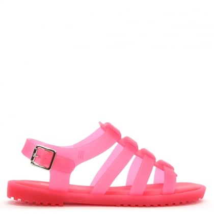 Kids Flox Neon Matt Pink Jelly Sandals