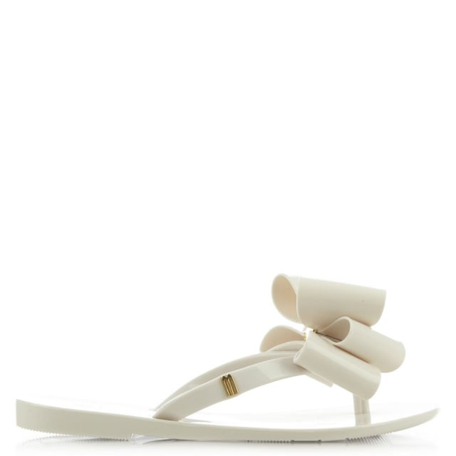 Kids Harmonic Twin Bow White Toe Post