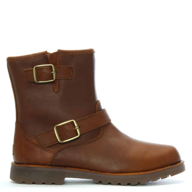 Kid's Harwell Stout Leather Buckle Biker Boots