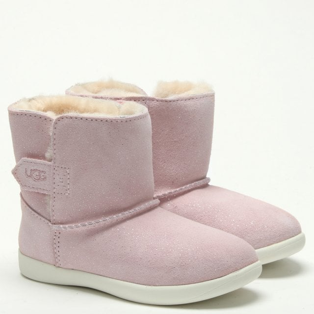 864562a02029 Kid's Keelan Sparkle Baby Pink Ankle Boots