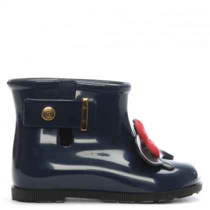 Kid's Mini Sugar Navy Disney Bow Rain Boots