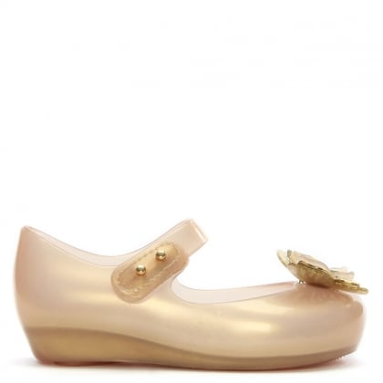 Kid's Mini Ultragirl Butterfly Soft Gold Mary Janes