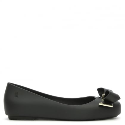 Kid's Space Love Black Matte Ballerina Flats