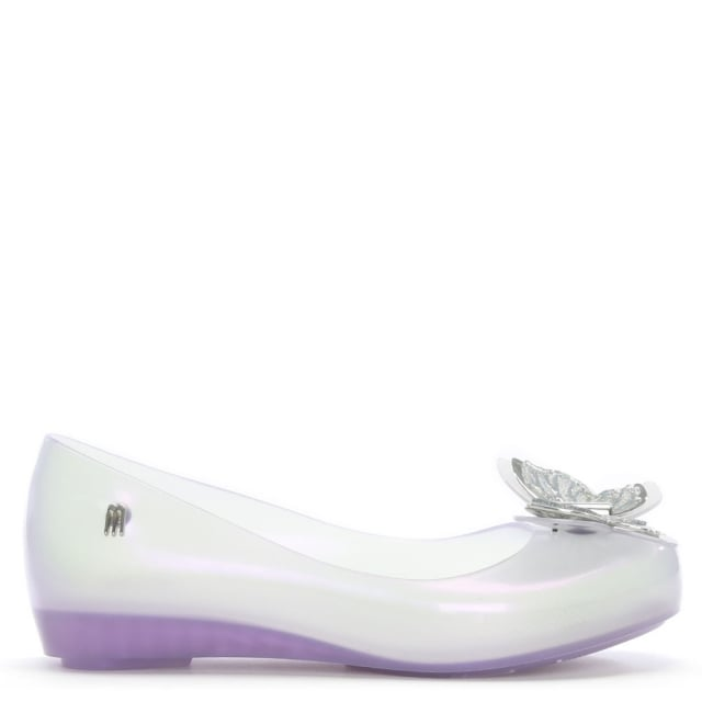 Kid's Ultragirl Butterfly Clear Ballerina Flats