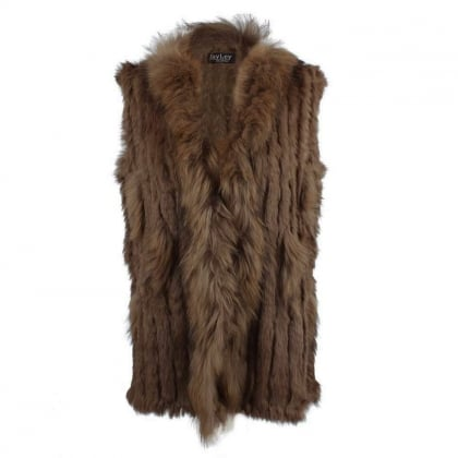Kim 1 Brown Fur Gilet