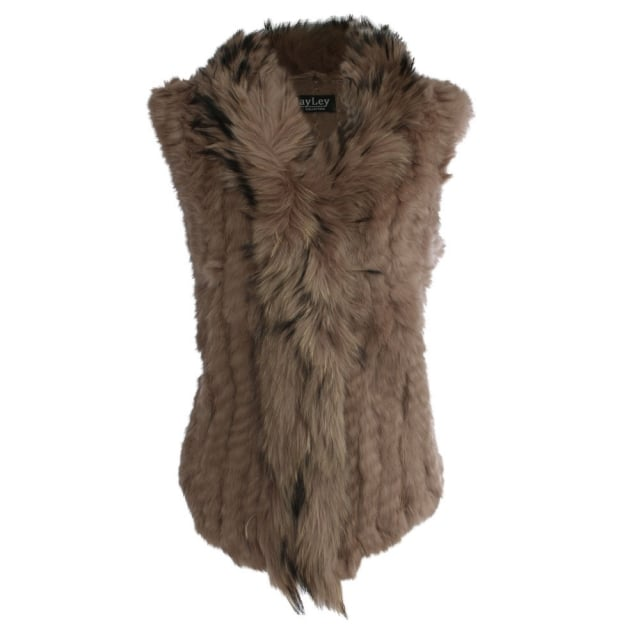 Kim 3 Brown Fur Gilet