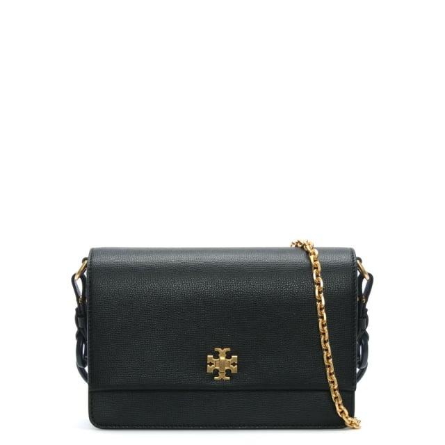 66cba4767d1110 Tory Burch Kira Black Leather Double Shoulder Strap Bag