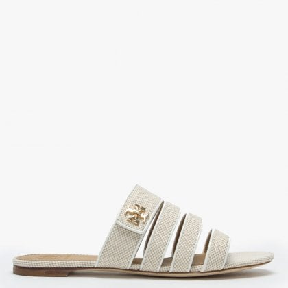 5f755d9f41a5 Kira Multi Band Natural   Perfect Ivory Woven Sliders. Free Standard UK  Delivery. Tory Burch ...