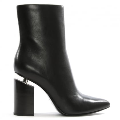 Kirby Black Leather Ankle Boots