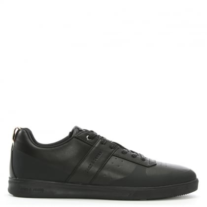 Kleen Black Leather Lace Up Trainers