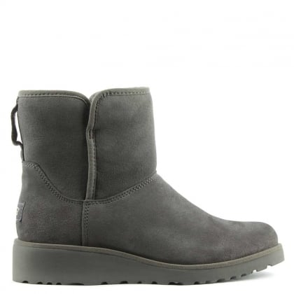 Kristin Grey Suede Twinface Boot