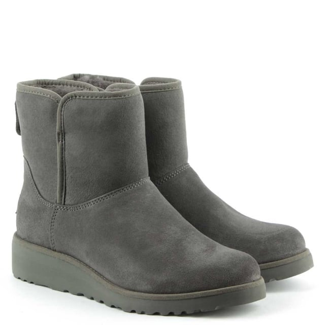 e49d74323 UGG Kristin Grey Suede Twinface Boot