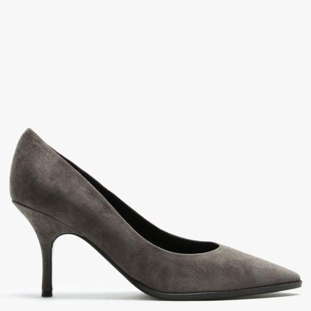 Schmenger Camille Grey Suede Court Shoes