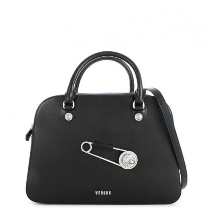 Kuta Black Leather Bowling Bag