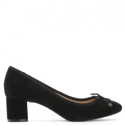 Laila 50 Black Block Heel Pumps