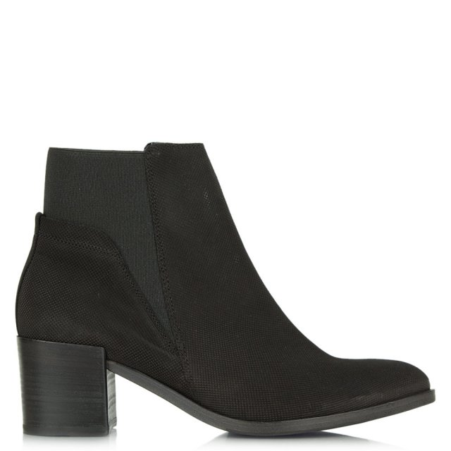 Lancer Black Suede Chelsea Ankle Boot