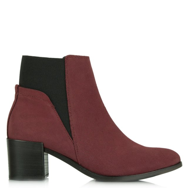 Lancer Burgundy Suede Chelsea Ankle Boot