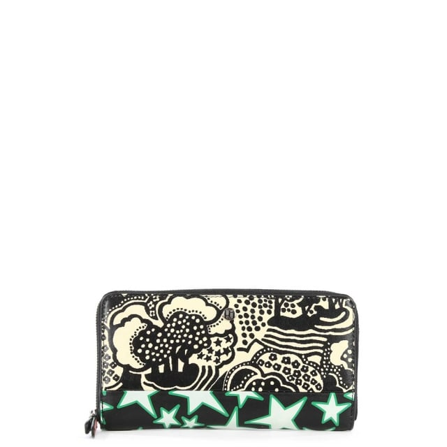 Landscape Continental Multicoloured Leather Wallet