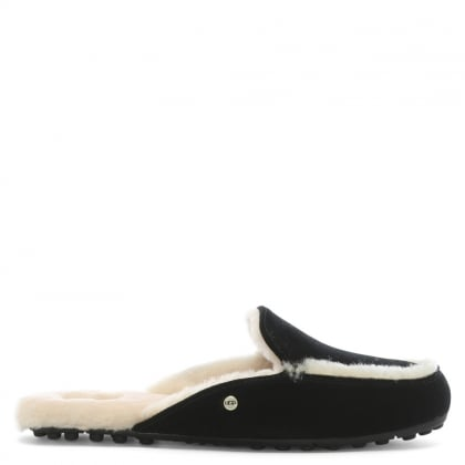 Lane Black Suede Slip On Loafers