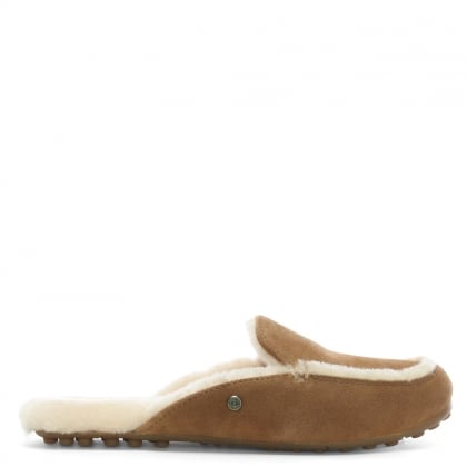 Lane Chestnut Suede Slip On Loafers