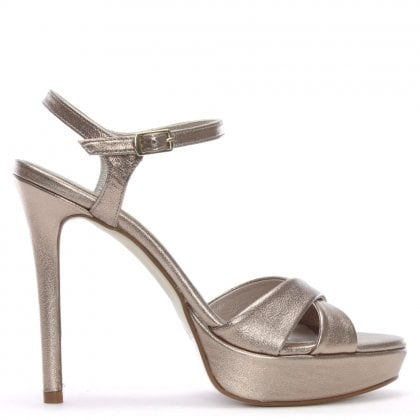 Lansford Nude Metallic Platform Sandals