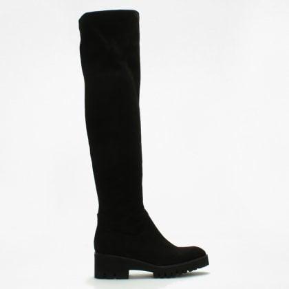 e8fa1b49d5c9d Lamica Laquila Black Suedette Over The Knee Boots