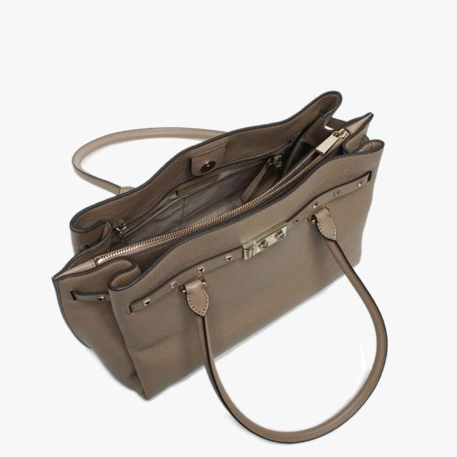 08230ce9c28a Michael Kors Large Addison Pebbled Truffle Leather Tote Bag