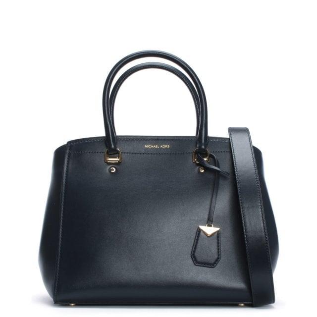 9688f2768450f Michael Kors Large Benning Admiral Leather Satchel Bag