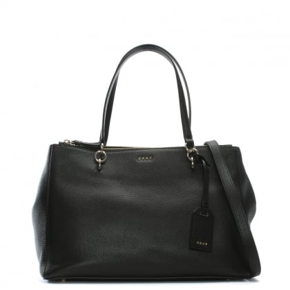 Large Chelsea Black Leather Shopper Bag