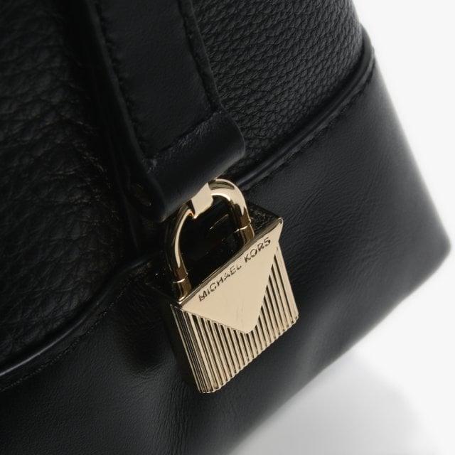 b39c8fc6d5e8 Michael Kors Large Crosby Black Pebbled Leather Shoulder Bag