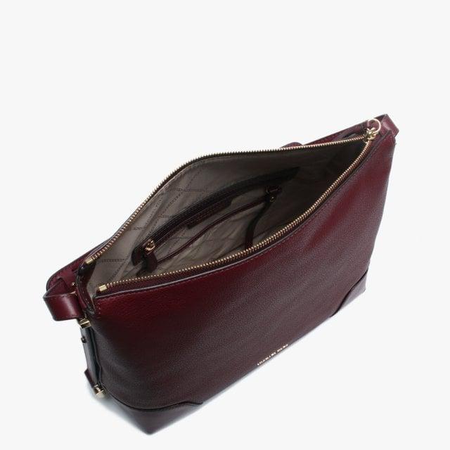1171c599f802 Michael Kors Large Crosby Oxblood Pebbled Leather Shoulder Bag