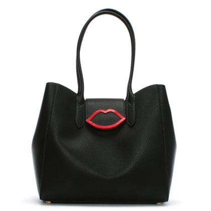 Large Cupids Bow Black Tote Bag
