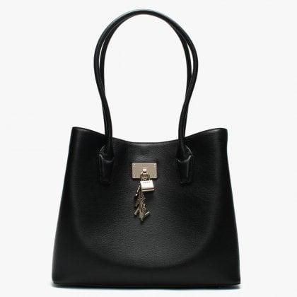 e93253a5221 Large Elissa Black Leather Tote Bag