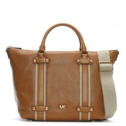 Large Griffin Acorn Leather Satchel Bag