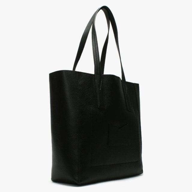 85f2e1339968 Michael Kors Large Junie Black Pebbled Leather Tote Bag