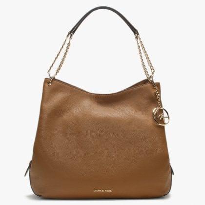 b17b5c0c2466d Large Lillie Acorn Pebbled Leather Shoulder Tote Bag