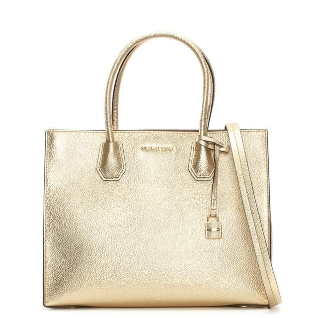 Michael Kors Large Mercer Pale Gold Large Tote Bag ec0e457c5bb20