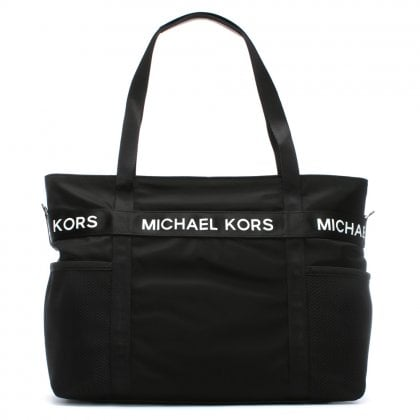 Large Michael Black Nylon Tote Bag