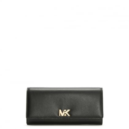Large Mott Black Leather Carryall Wallet