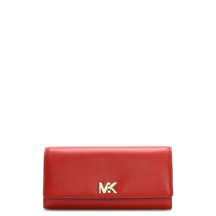 Large Mott Bright Red Leather Carryall Wallet